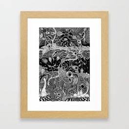 Magic brambles Framed Art Print