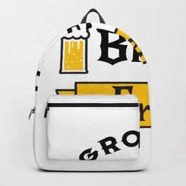 Groom Funny Groom's Brew Crew Backpack