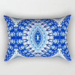 Azurite with a geometric kaleidoscopic design Rectangular Pillow