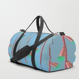 Mid Century Illumination: Copper Blue and Green Palette Duffle Bag