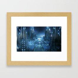 Space City Center - Framed Art Print
