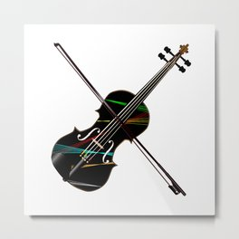 Country Fiddle Lazer Lights Metal Print