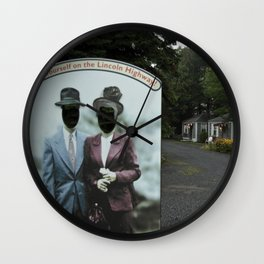Picture Yourself on the Lincoln Highway II Wall Clock