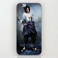 sasuke iPhone & iPod Skins featuring Sasuke real style portrait by Shibuz4