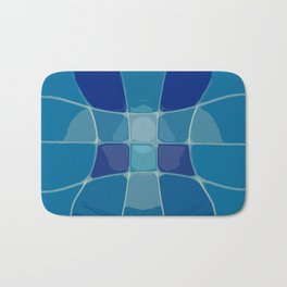 Abstract Lake Water Bath Mat