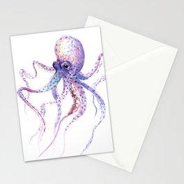 Octopus, soft purple pink aquatic animal design Stationery Cards