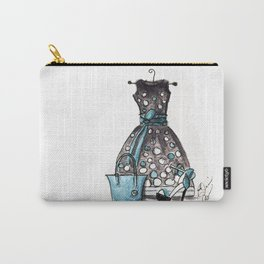 Dots and Shoes Fashion Watercolor Carry-All Pouch