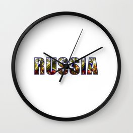 Russian Crest & Flag Wall Clock