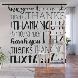 Thank Yous Wall Mural