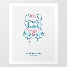 Scarab King Art Print