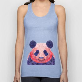 Don't Be Scared To Be Different If You're Already Rare (Panda Animal Painting Stippled Pop Art) Unisex Tank Top