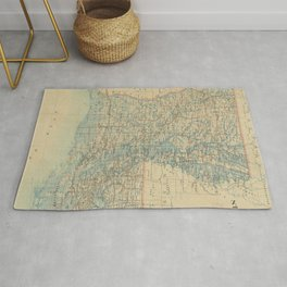 Vintage Map of Louisiana (1896) Rug