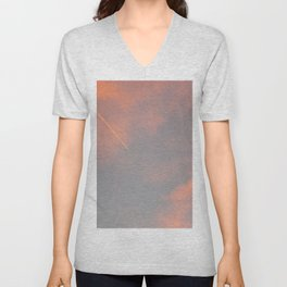 Contrail Clouds Unisex V-Neck