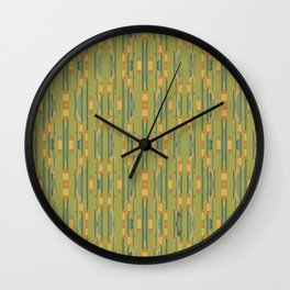 Olin in Green and Gold Wall Clock