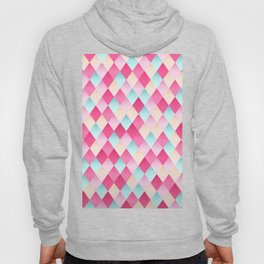 Pink And Blue Diamond Abstract Hoody