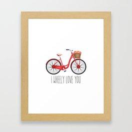 I Wheely Love You Framed Art Print
