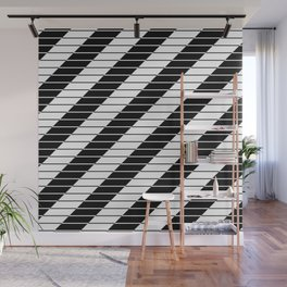 Simply Black And White (Abstract, geometric design) Wall Mural