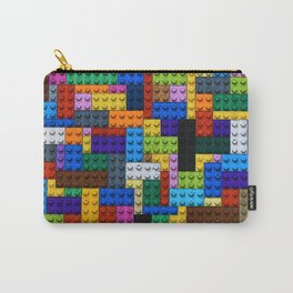 Colorful Building Block Pattern Carry-All Pouch