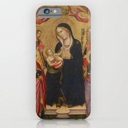 Agnolo Gaddi - Saints Mary Magdalene, Benedict, Bernard & Catherine of Alexandria (1385) iPhone Case