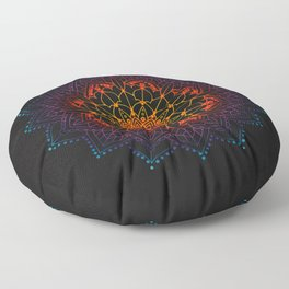 Mandala Shambala Spiritual Zen Bohemian Hippie Yoga Mantra Meditation Floor Pillow