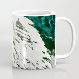 Yellow Blue Green Abstract Coffee Mug