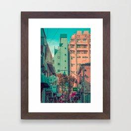MANGA CITY 02 Framed Art Print