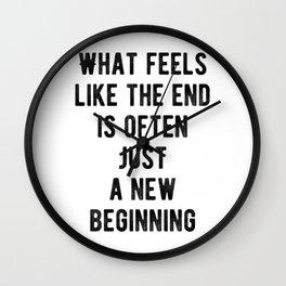 Motivational - New Beginnings! Wall Clock