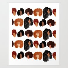 Natural Hair Girls Art Print