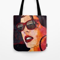 hotline miami Tote Bags featuring MIAMI  by Stephan Parylak