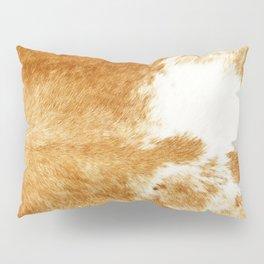 Golden Brown Cow Hide Pillow Sham