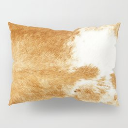 Golden Brown Cow Hide Pillow Sham
