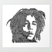 marley Art Prints featuring Marley by Travis Poston