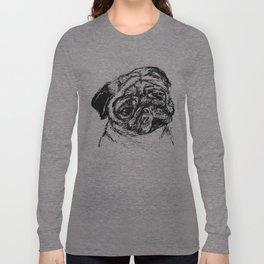 Sketchy Pug Long Sleeve T-shirt