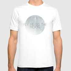 In Other Words White MEDIUM Mens Fitted Tee