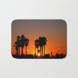 Venice Beach Sunset Bath Mat