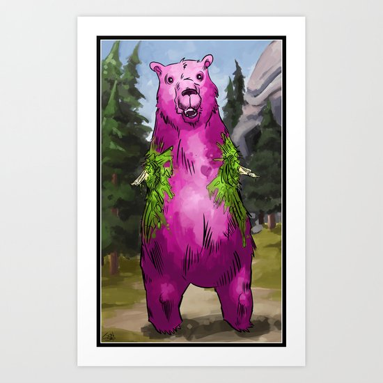 Armless Bear in Nature Art Print
