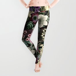 Vintage  & Shabby Chic - Mystical Night Flower Dance Leggings