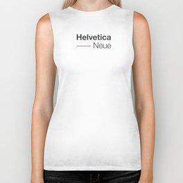 Helvetica Neue red & grey Biker Tank