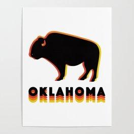 Retro Buffalo Poster