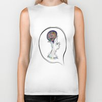 architect Biker Tanks featuring Architect of my dreams by Lily Mandaliou