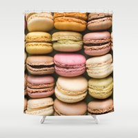 macaron Shower Curtains featuring Macarons I by SouvenirPhotography