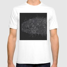 Life of Oceans: The Deep Sea Fish MEDIUM White Mens Fitted Tee