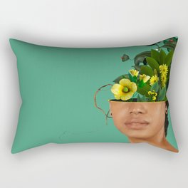 Lady Flowers VII Rectangular Pillow