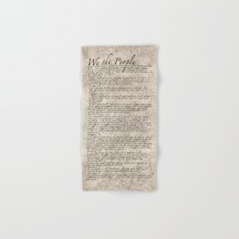 United States Bill of Rights (US Constitution) Hand & Bath Towel