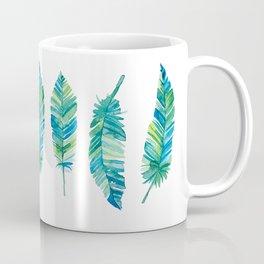 Feather Study in Blue-Green Coffee Mug