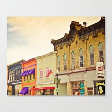 Small Town Colors Canvas Print