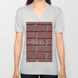 Love on a Brick Wall Unisex V-Neck