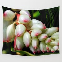 ginger Wall Tapestries featuring Shell Ginger by Alex Sallade