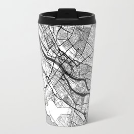 Bremen Map Gray Travel Mug