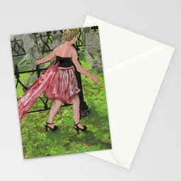 grave girl Stationery Cards
